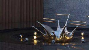 Metal Sculpture Stainless Steel Water Sculpture