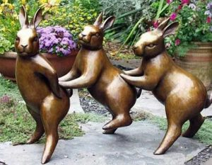 Bronze Animal Sculpture Metal Rabbit Sculpture