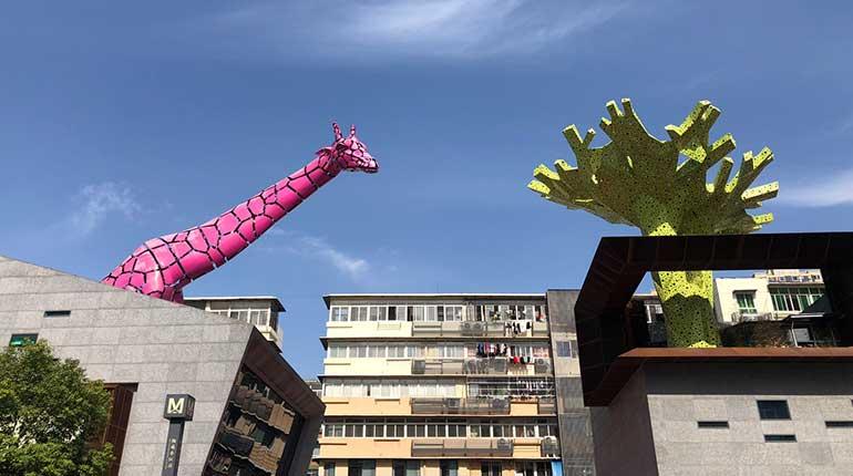 Metal Sculpture Stainless Steel Sculpture Giraffe Sculpture