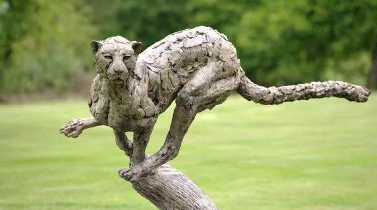 bonnie sculpture-Bronze Cheetah Sculpture770x430