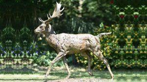 bonnie sculpture-Bronze Deer Sculpture770x430