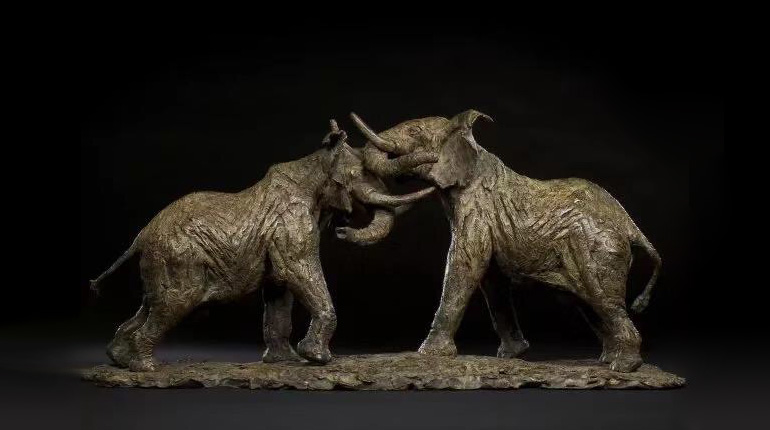bonnie sculpture-Bronze Elephant Sculpture770x430