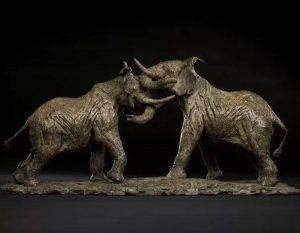 bonnie sculpture-Bronze Elephant Sculpture900x700