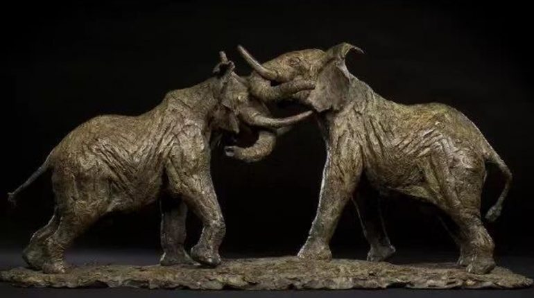 bonnie sculpture-Bronze Elephant Sculpture900x700
