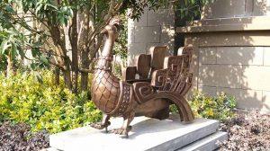 bonnie sculpture-Bronze Peacock Flowerpot Sculpture 770x430