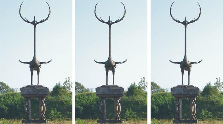 bonnie sculpture-China Chu Dynasty Cultural Bronze Statue770x430