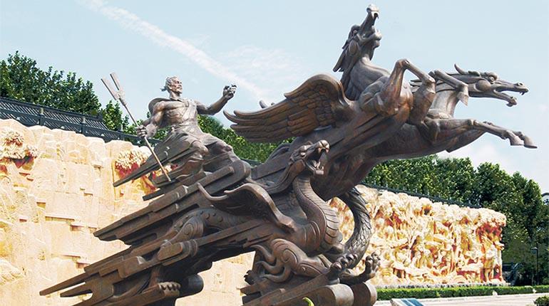 bonnie sculpture-Chinese Historical Figure Dayu Bronze Statue770x430