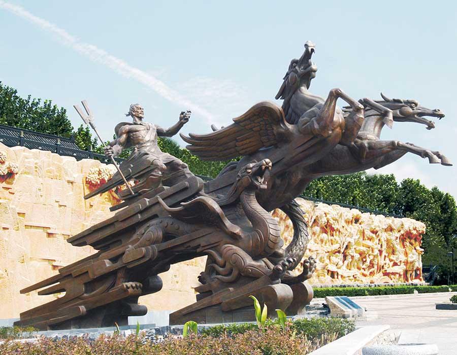 bonnie sculpture-Chinese Historical Figure Dayu Bronze Statue900x700