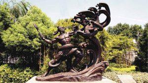 bonnie sculpture-Chinese Myth Bronze Statue770x430
