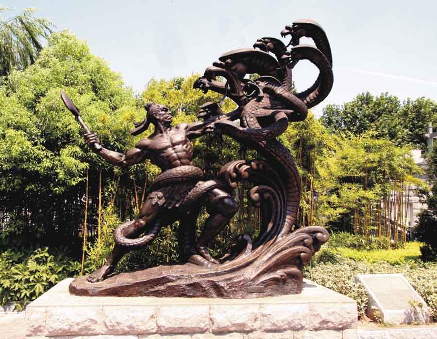 bonnie sculpture-Chinese Myth Bronze Statue900x700