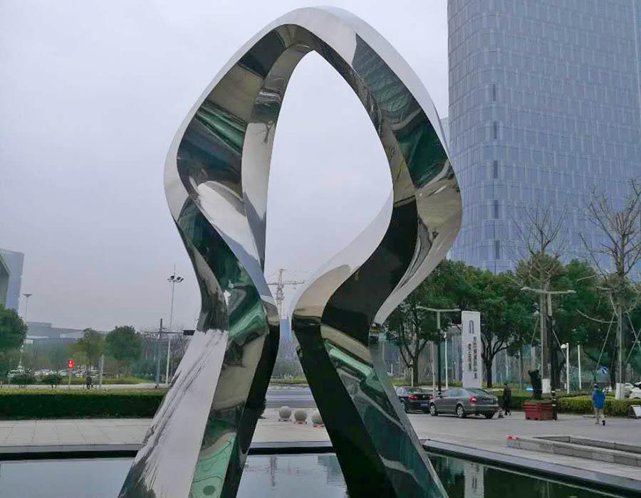 bonnie sculpture-Metal Sculpture Outdoor Stainless Steel Sculpture Hand Sculpture