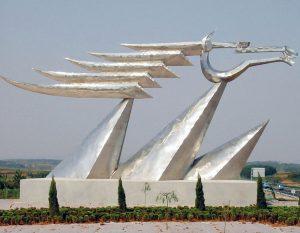 bonnie sculpture-Metal Sculpture Stainless Steel Abstract Sculpture Horse Sculpture