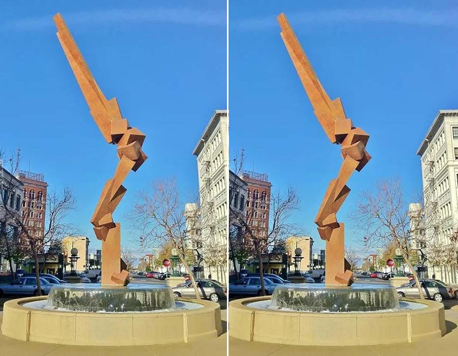 bonnie sculpture-Metal Sculpture Stainless Steel Abstract Sculpture