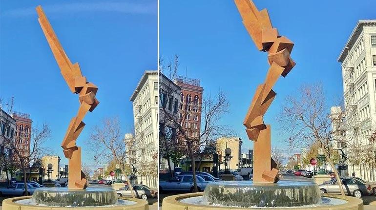 bonnie sculpture-Metal Sculpture Stainless Steel Abstract Sculpture770x430