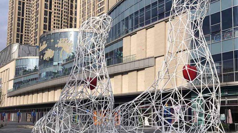 bonnie sculpture-Metal Sculpture Stainless Steel Animal Sculpture Sea Lion Sculpture