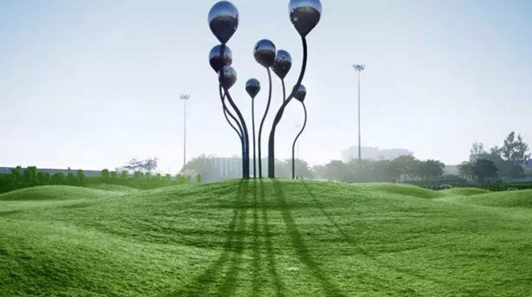 bonnie sculpture-Metal Sculpture Stainless Steel Balloon Sculpture