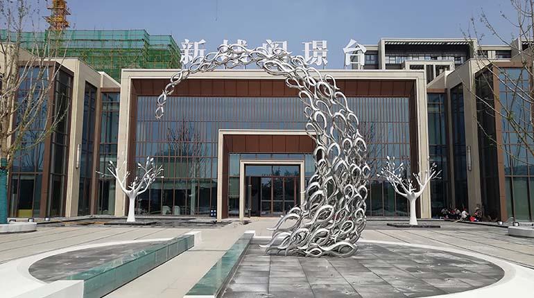 bonnie sculpture-Metal Sculpture Stainless Steel Fish Sculpture770x430