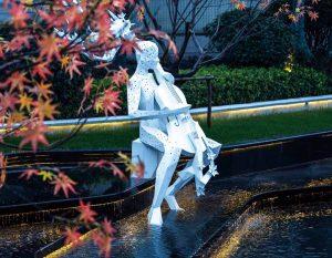 bonnie sculpture-Metal Sculpture Stainless Steel Garden Sculpture Cello Sculpture