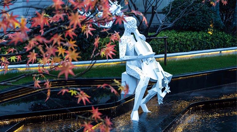 bonnie sculpture-Metal Sculpture Stainless Steel Garden Sculpture Cello Sculpture770x430