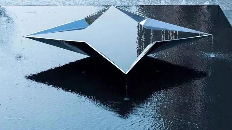 bonnie sculpture-Metal Sculpture Stainless Steel Modern Geometric Sculpture770x430