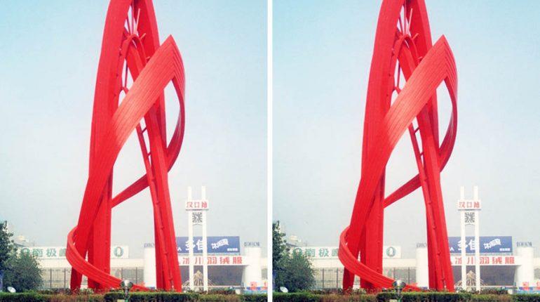 bonnie sculpture-Metal Sculpture Stainless Steel Railway Station Sculpture Transportation Statue