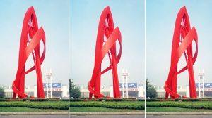 bonnie sculpture-Metal Sculpture Stainless Steel Railway Station Sculpture Transportation Statue770x430