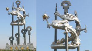 bonnie sculpture-Metal Sculpture Stainless Steel&Bronze Dragon Sculpture770x430-02