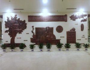bonnie sculpture-Metal Wall Décor Chinese Cultural Relief900x700