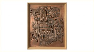 bonnie sculpture-Metal Wall Décor Copper Plate Classic Chinese Relief 770x430