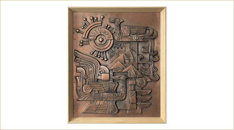 bonnie sculpture-Metal Wall Décor Copper Plate Phoenix Sculpture 770x430
