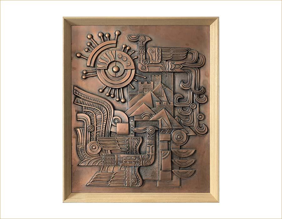bonnie sculpture-Metal Wall Décor Copper Plate Phoenix Sculpture 900x700