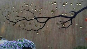 bonnie sculpture-Metal Wall Décor Plum Blossom Relief 770x430