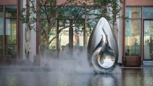 bonnie sculpture-Modern Stainless Steel Flower Bud Sculpture Water Feature Sculpture770x430