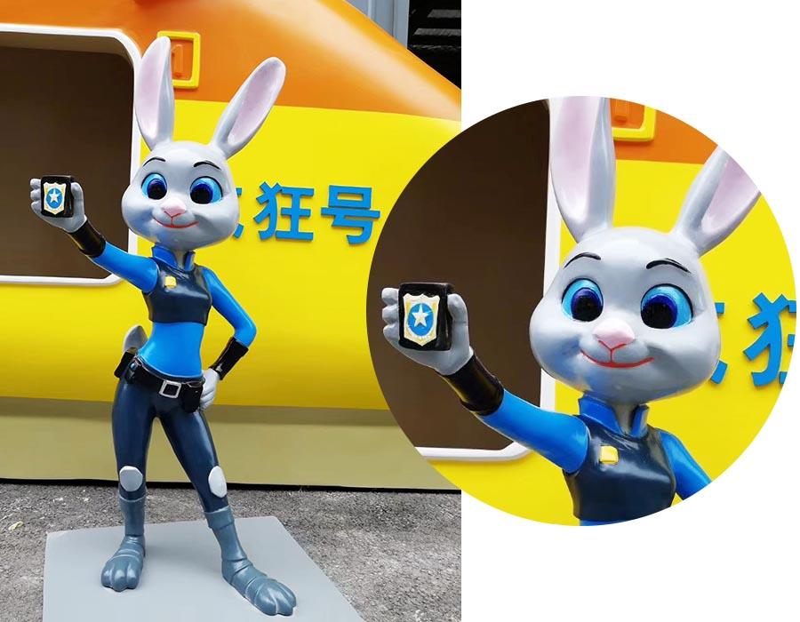 bonnie sculpture-Resin Fiber Cartoon Rabbit Sculpture 900x700