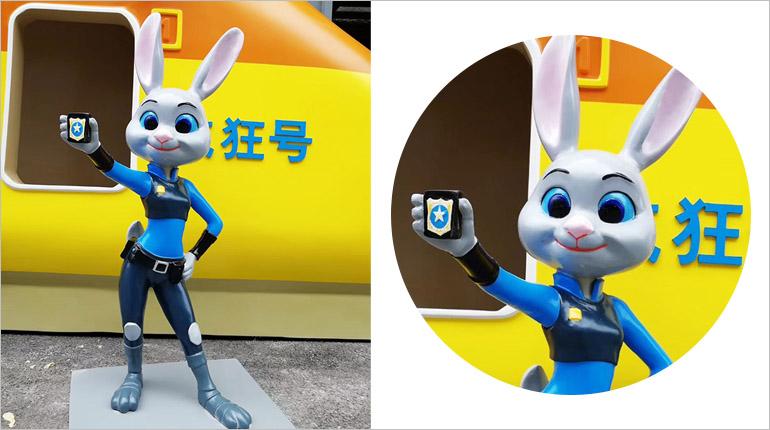 bonnie sculpture-Resin Fiber Cartoon Rabbit Sculpture
