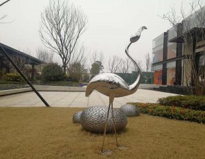 bonnie sculpture-Stainless Steel Animal Sculpture Flamingo Sculpture