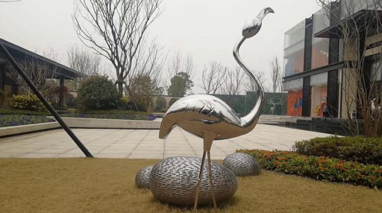 bonnie sculpture-Stainless Steel Animal Sculpture Flamingo Sculpture