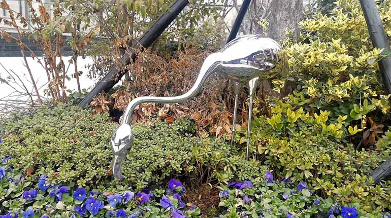 bonnie sculpture-Stainless Steel Animal Sculpture Flamingo Sculpture770x430