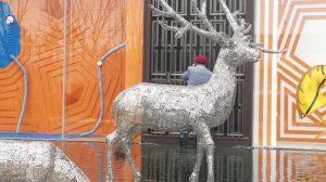bonnie sculpture-Stainless Steel Animal Sculpture Hollow Out Metal Deer Sculpture 770x430