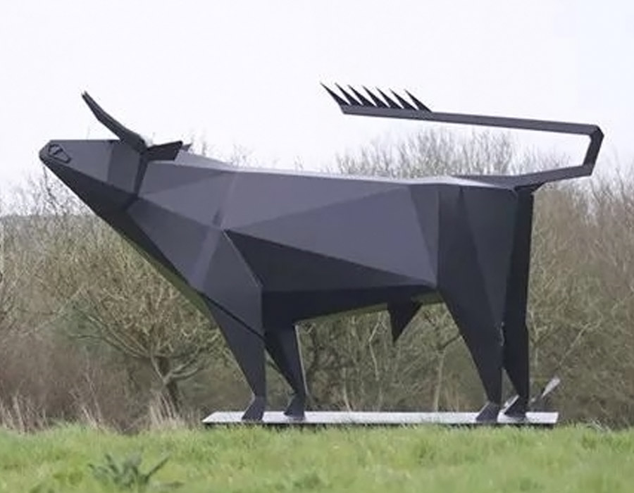 bonnie sculpture-Stainless Steel Animal Sculpture Metal Bull Sculpture