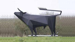 bonnie sculpture-Stainless Steel Animal Sculpture Metal Bull Sculpture 770x430