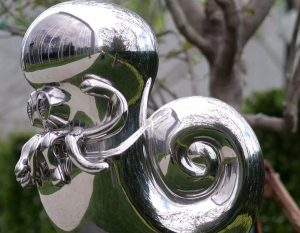 bonnie sculpture-Stainless Steel Animal Sculpture Metal Nautilus Sculpture