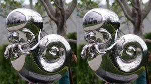 bonnie sculpture-Stainless Steel Animal Sculpture Metal Nautilus Sculpture 770x430