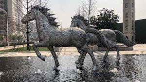 bonnie sculpture-Stainless Steel Animal Sculpture Running Horse Sculpture 770x430
