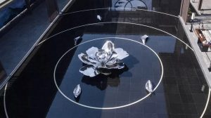 bonnie sculpture-Stainless Steel Blossoming Flower Sculpture Water Feature Sculpture 770x430
