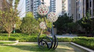 bonnie sculpture-Stainless Steel Dandelion Sculpture770x430