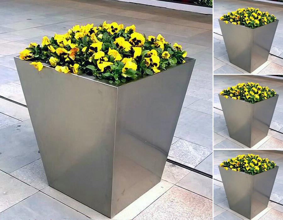 bonnie sculpture-Stainless Steel Flower Pot6-900x700