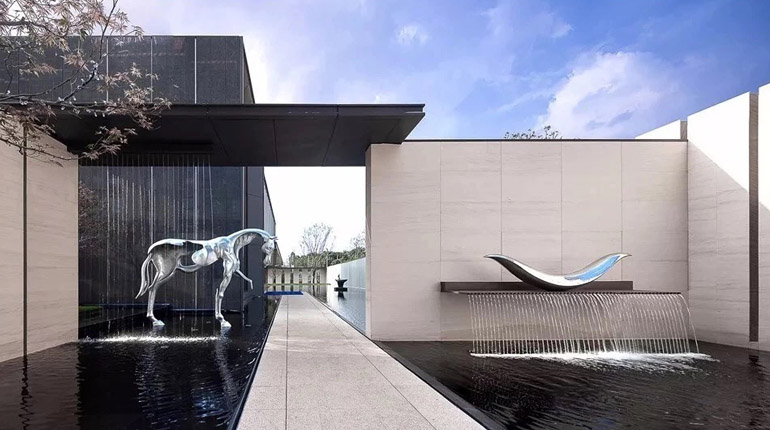 bonnie sculpture-Stainless Steel Horse Sculpture Metal Water Feature Sculpture770x430