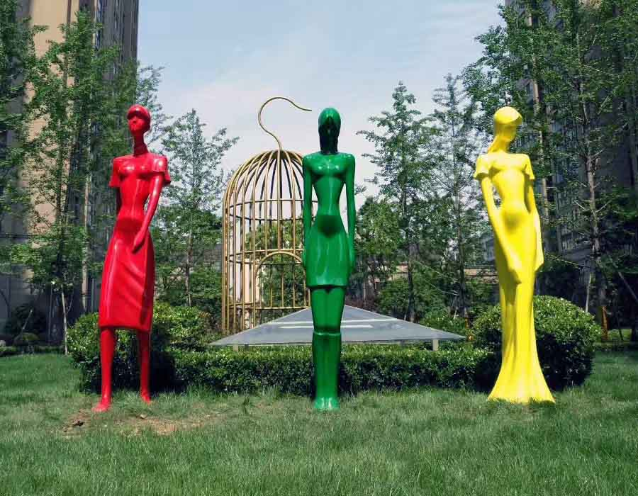 bonnie sculpture-Stainless Steel Human Figure Sculpture