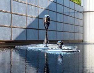 bonnie sculpture-Stainless Steel Water Drop Sculpture Water Feature Sculpture